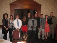 Students and faculty at awards banquet.
